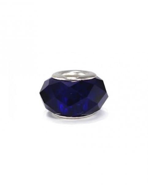 Berloque murano facetado azul
