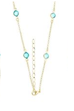 Pulseira estilo Tiffany com zircônia azul